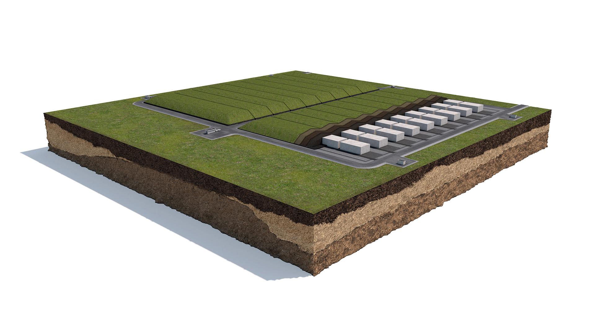 Quarta barriera di protezione del Deposito Nazionale: la collina multistrato